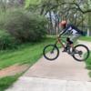Nice little road gap jump