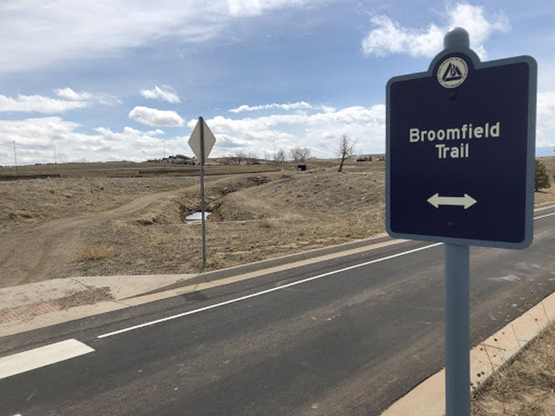 Broomfield Trail Sign - sometimes, that's the only way you know this trail is real.