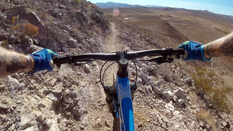 Super fun downhill from here!