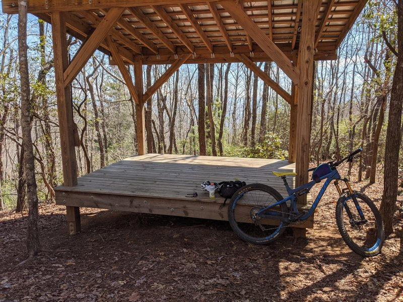 Shelter at the top of Brushy Creek Trail