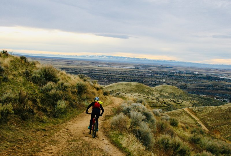 Starting the descent down homestead. Looking out in the city!