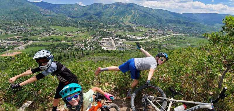 View of Steamboat Springs from Lupine