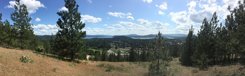 Looking south toward Coeur d' alene lake from Penn trail outlook.