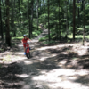 One of the ascents on the red trail. Great beginner trail for kids!