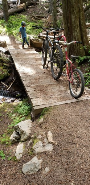 One of the creek crossings. Great to stop and wipe off some sweat