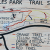 Map at the trailhead parking lot. Note that the mountain bike trails are not depicted.
