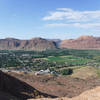 View of Moab from the edge of the Slickrock Trail.