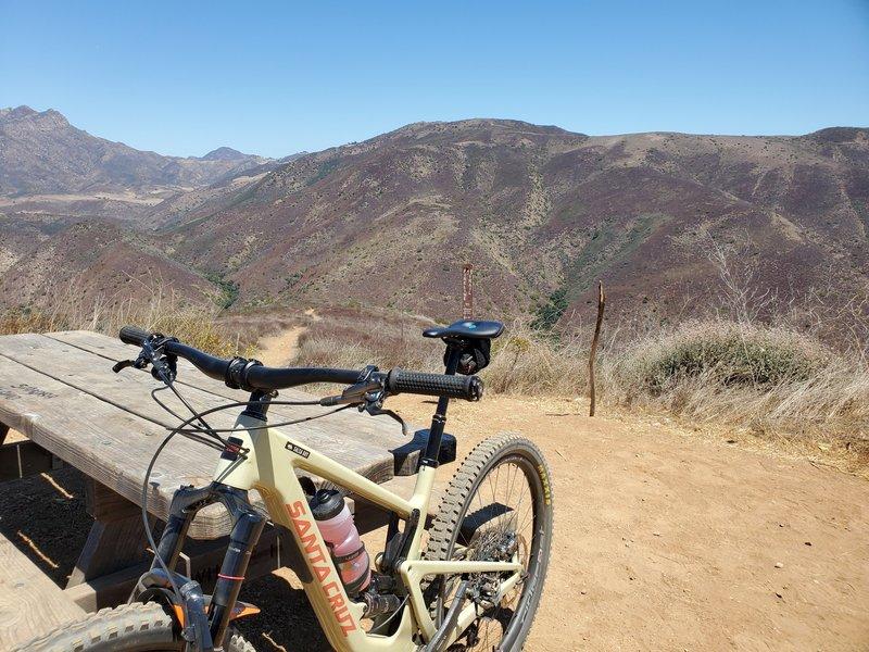 View of Santa Monica Mountains.