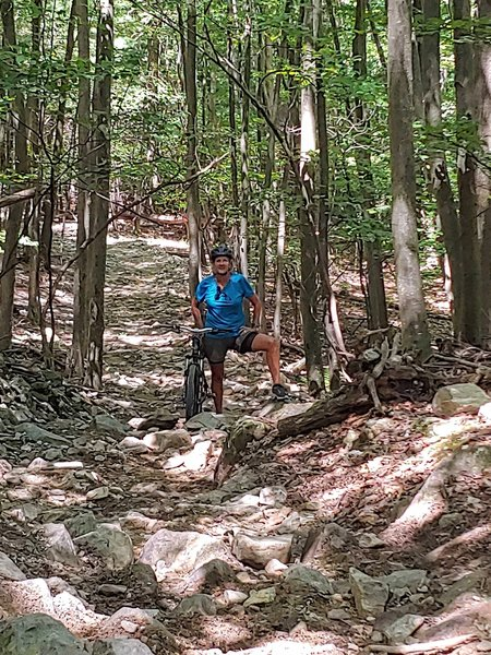 Uphill climb on eastern leg.
