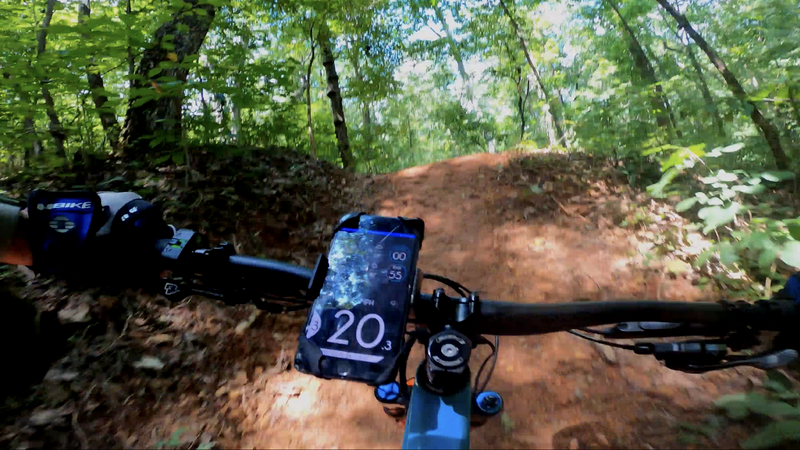 20mph is about 3mph too slow to clear this jump smoothly, but you are flying off that jump either way! https://youtu.be/_hnTakiDoHM
