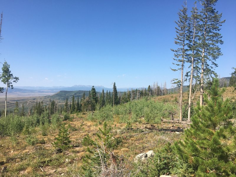 Views of Flat Tops Range in the White River National Forest, about 20 miles away.