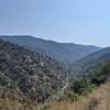 View down Sullivan Canyon from the top.