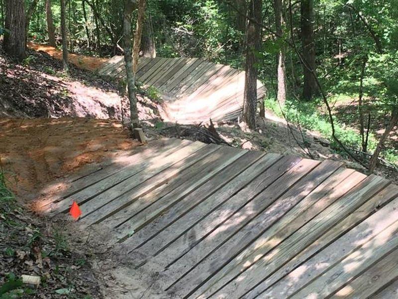 New S-Curve Wooden Berm.