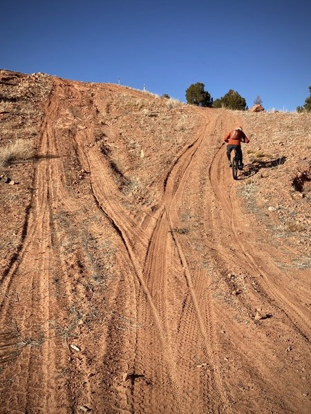 The worst bit on the south half of Pipeline Trail