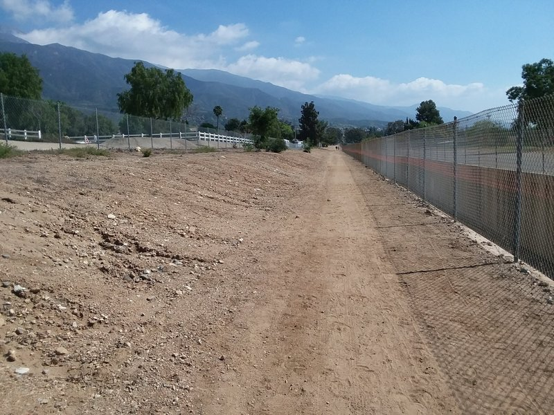 Opposite side of paved trail