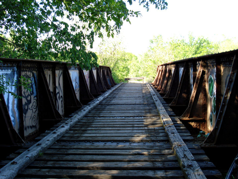 Old railroad bridge off on of the spurs in Wilderness Park.