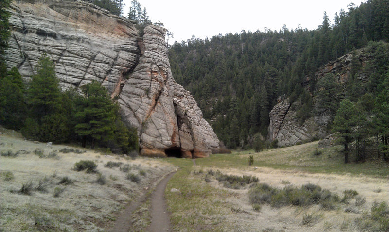 Cave at the head of Walnut Canyon