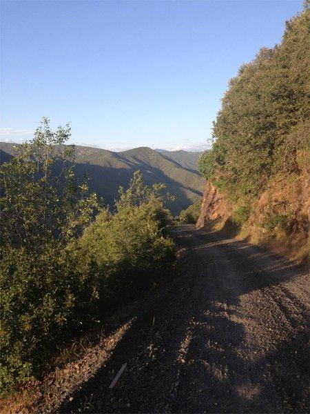 View of Lumsden Road half way down.