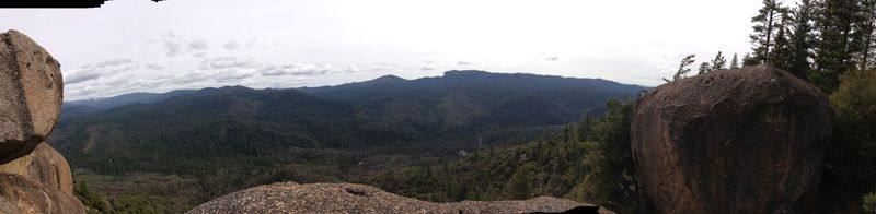 Panoramic view at the top of Saw Mill Mountain