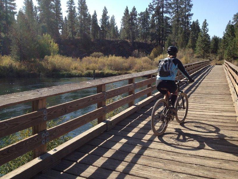 Bridge over calmer waters