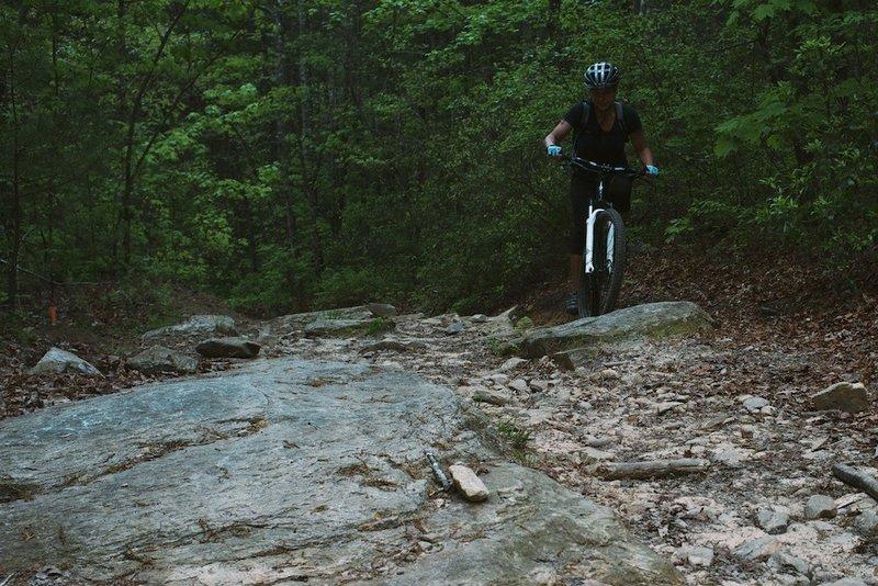 A rocky ascent.