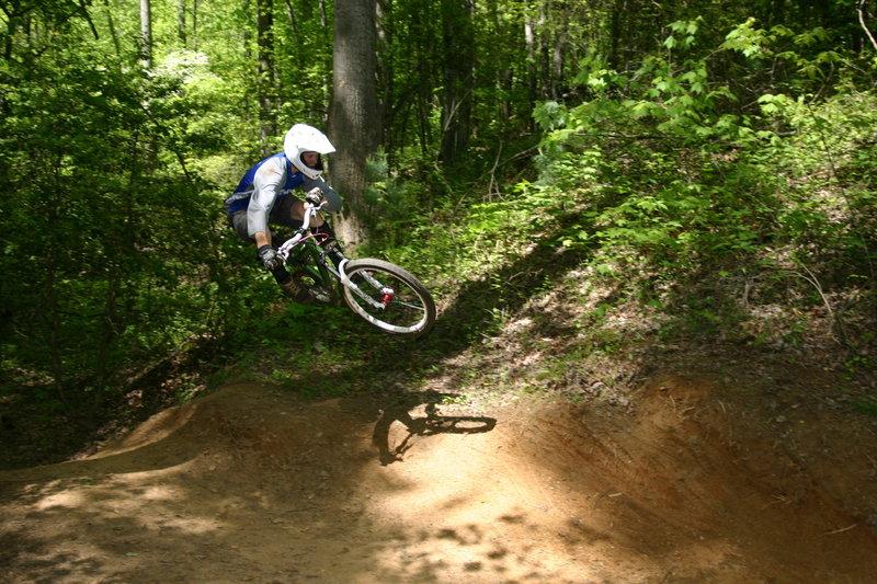 Jumpin' around on Dark Mountain's finale. Photo by Richard Fink.