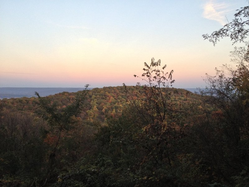 View of Great Sinks Valley and Panther Knob.