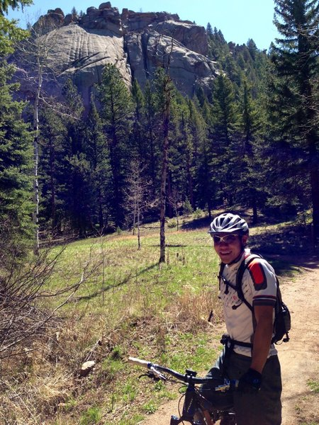 On the Colorado Trail in the SW part of Buffalo Creek area - heading towards Redskin Creek Trail