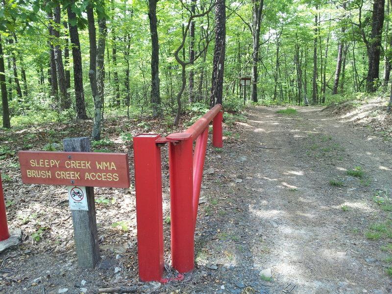Trailhead at Brush Creek Access