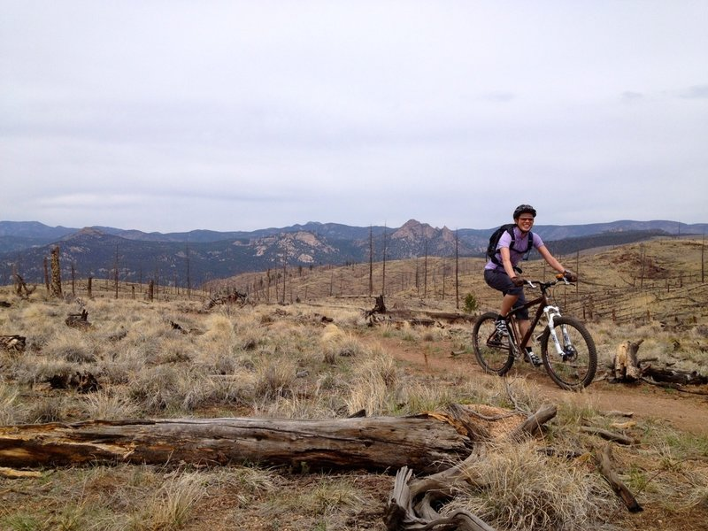 After gaining some serious elevation on Nice Kitty, riders are rewarded with great views.