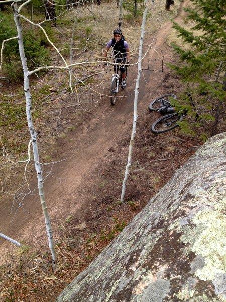 Fun features along the way keep the moderate climb interesting.