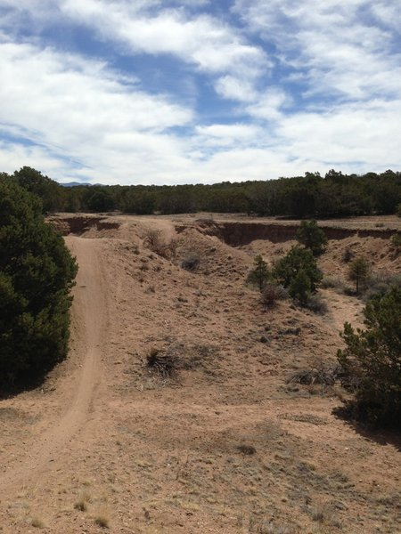 The whoops section of the La Tierra open space in Santa Fe, NM