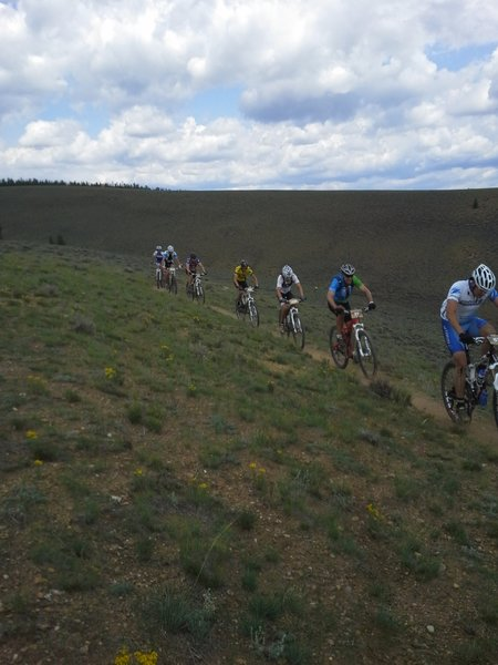 One of the smaller climbs of the Leadville 100 Bike race