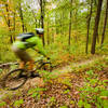 Screamin' through the green on Doe at Raystown Lake Trails