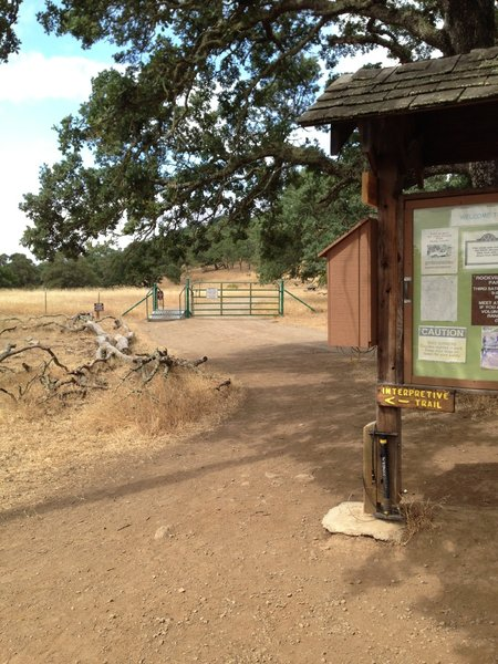 """California hospitality""... a floor pump and basic tools provided at a trail intersection"