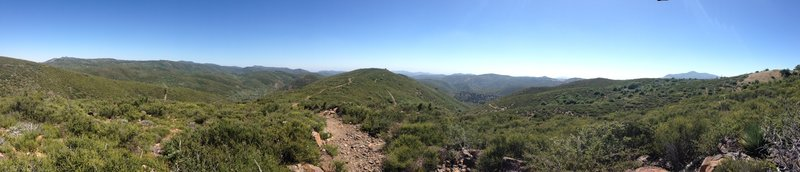 Panorama looking toward Champagne Pass from Pine Mountain Trail