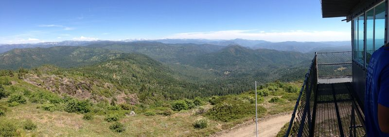 Panoramic view from the Pilot's Peak look out tower
