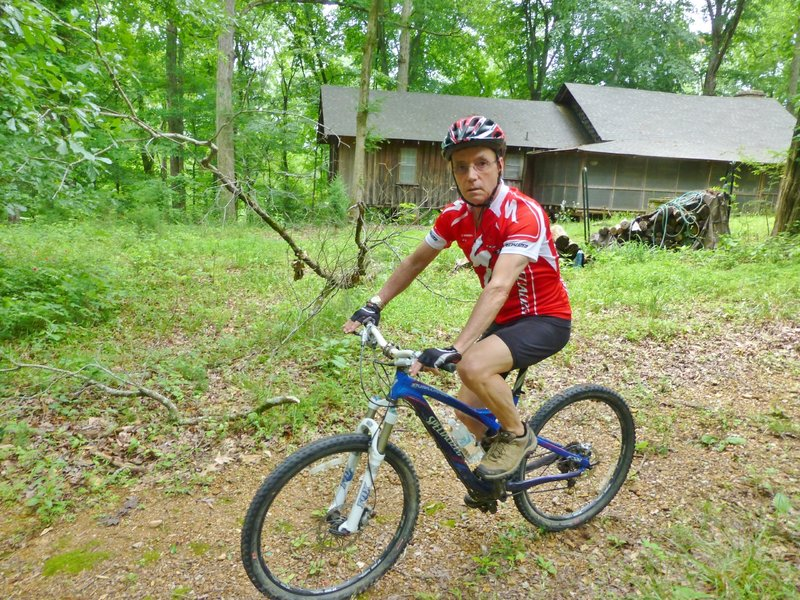 Ian starting out on the Graham Mill trail from the Ross Forests Mountain Bike Refuge