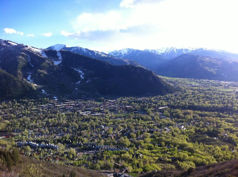 View of Aspen and beyond from Smuggler Observation Deck