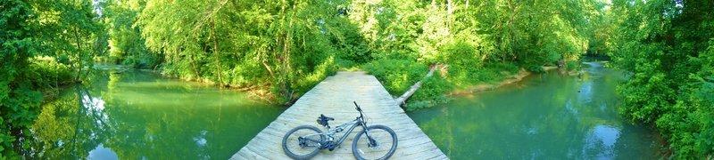 John's bicycle on Horse Creek Bridge