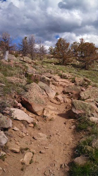 Rock section on Headquarters Overlook