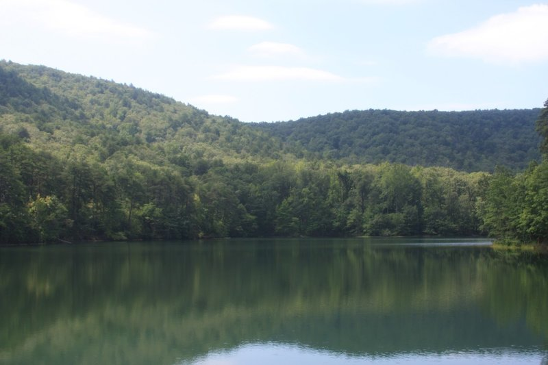 Lake view at Paris Mountain