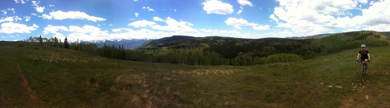 Panorama view from Van Horn Park high point
