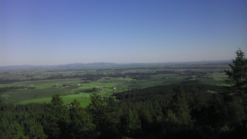 The view of the palouse to the south.