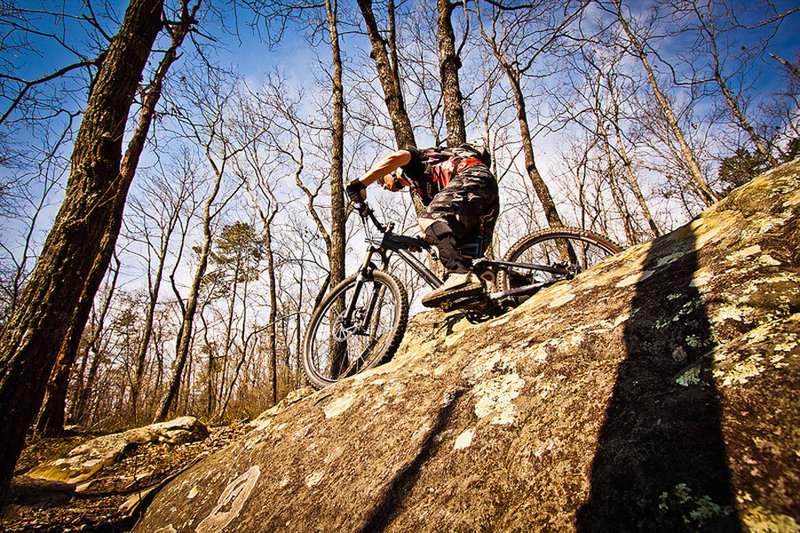 Lots of technical riding on the Boulder Trail.