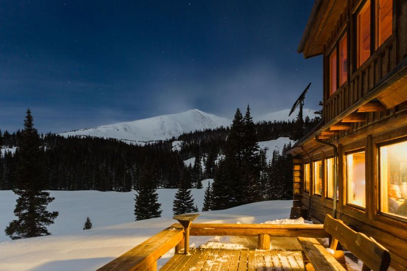 Starry night from the 10th Mountain Hut
