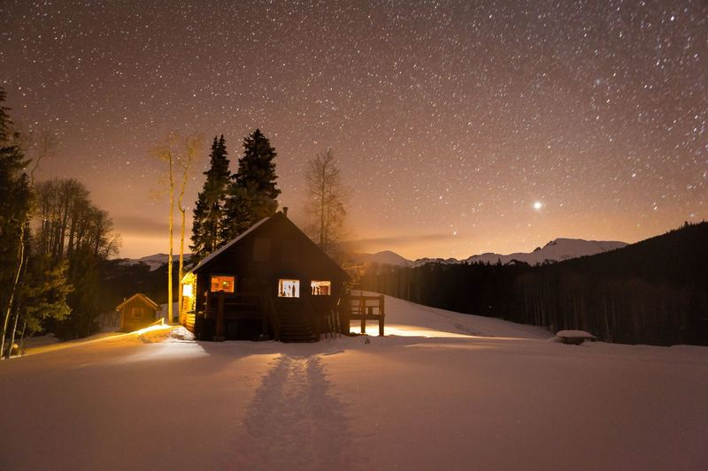 Stars over Harry Gates Hut