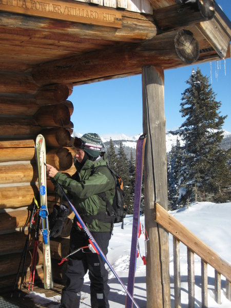 Arrival at the Fowler Hilliard hut