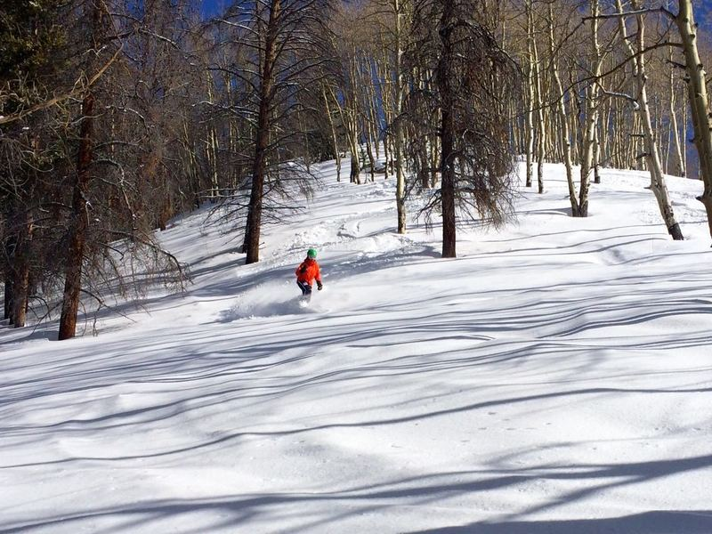 Staying left, on the ridge, gives this nice line