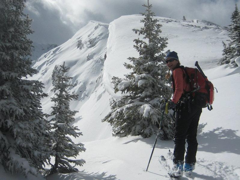 Heading up New York Mountain ridge, weather deteriorating!
